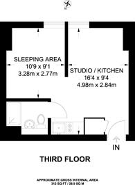 Large floorplan for Clapham High Street, Clapham, SW4