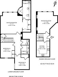 Large floorplan for Collingham Gardens, South Kensington, SW5
