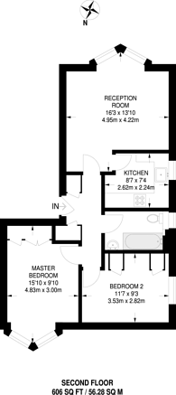 Large floorplan for Halley Gardens, Blackheath, SE13