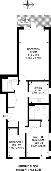 Large floorplan for Admiral Walk, Maida Vale, W9