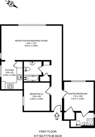 Large floorplan for Amsterdam Road, Isle Of Dogs, E14