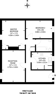 Large floorplan for Elsinore Road, Forest Hill, SE23