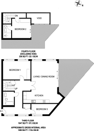Large floorplan for Fulham Road, Fulham Broadway, SW6