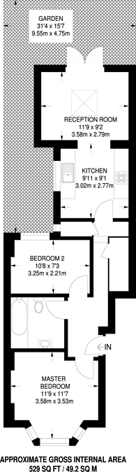 Large floorplan for Powell Road, Lower Clapton, E5