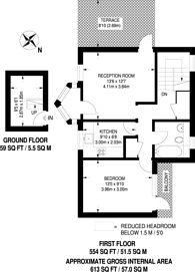 Large floorplan for Spinney Gardens, Crystal Palace, SE19
