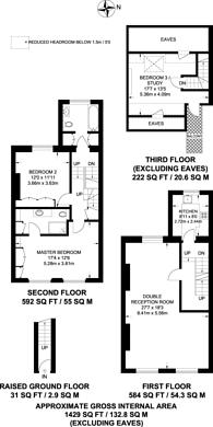 Large floorplan for Marloes Road, High Street Kensington, W8
