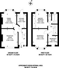 Large floorplan for Wadham Gardens, Greenford, UB6