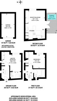 Large floorplan for Shrewsbury Mews, Notting Hill, W2