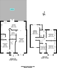 Large floorplan for Langham Gardens, North Wembley, HA0