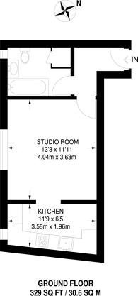 Large floorplan for Cardinal Way, Wealdstone, HA3