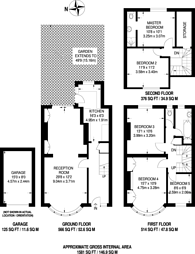 Large floorplan for Cannon Hill Lane, Wimbledon, SW20