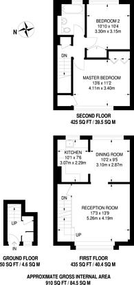 Large floorplan for Beckett Walk, New Beckenham, BR3