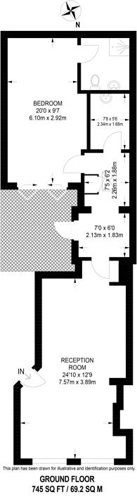 Large floorplan for Old Gloucester Street, Holborn, WC1N