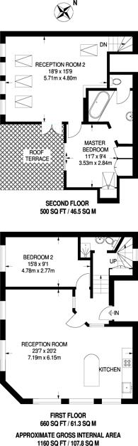 Large floorplan for Wellington Row, Shoreditch, E2