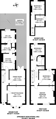 Large floorplan for Appach Road, Brixton, SW2