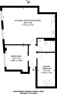 Large floorplan for Orsman Road, Hoxton, N1