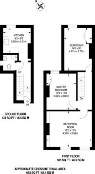 Large floorplan for Mayall Road, Herne Hill, SE24