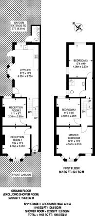 Large floorplan for Victoria Way, Charlton, SE7