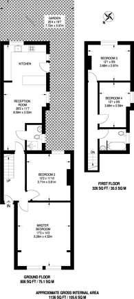 Large floorplan for Kingston Road, New Malden, KT3