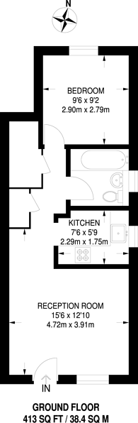 Large floorplan for Grovelands Close, Camberwell, SE5