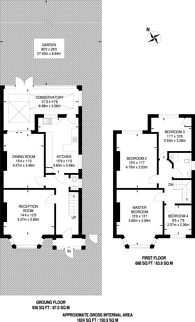 Large floorplan for Curzon Crescent, Harlesden, NW10