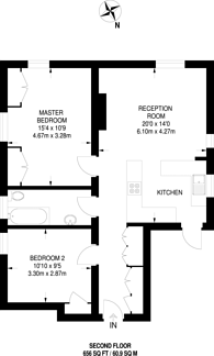 Large floorplan for Sudbury Hill, Harrow on the Hill, HA1