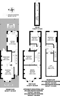 Large floorplan for Bracewell Road, North Kensington, W10