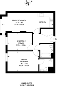 Large floorplan for 25% Shared Ownership, Point Pleasant, Wandsworth, SW18