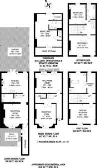 Large floorplan for Lanhill Road, Maida Vale, W9