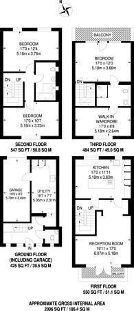 Large floorplan for Robert Close, Little Venice, W9