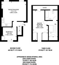 Large floorplan for Tollington Road, Holloway, N7