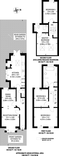 Large floorplan for Geere Road, Stratford, E15
