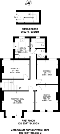 Large floorplan for Daysbrook Road, Streatham Hill, SW2
