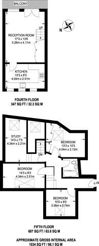 Large floorplan for Johnson Street, Shadwell, E1