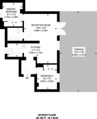 Large floorplan for Hallam Street, Marylebone, W1W