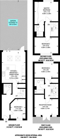 Large floorplan for Somerset Road, Teddington, TW11