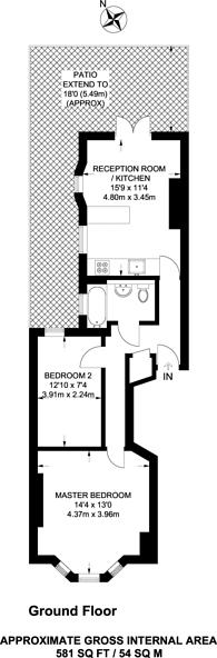 Large floorplan for Saltram Crescent, Maida Hill, W9