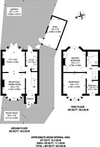 Large floorplan for Hillside Crescent, South Harrow, HA2