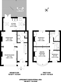 Large floorplan for Canterbury Grove, West Norwood, SE27