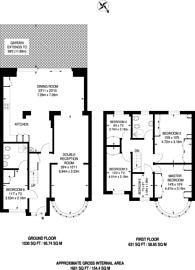 Large floorplan for Tithe Farm Avenue, South Harrow, HA2