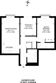 Large floorplan for Balmes Road, De Beauvoir Town, N1