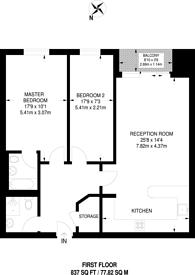 Large floorplan for Lowestoft Mews, Gallions Reach, E16