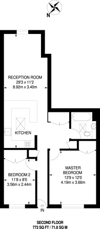 Large floorplan for High Street, Cheam, SM3