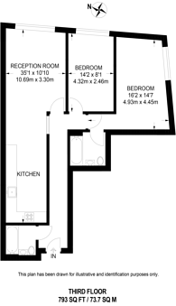 Large floorplan for Topham Street, Clerkenwell, EC1R