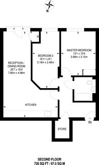 Large floorplan for Acton Square, Acton, W3
