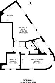 Large floorplan for Tavistock Street, Covent Garden, WC2E