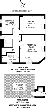 Large floorplan for Maple Road, Crystal Palace, SE20