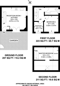Large floorplan for Cunard Walk, Canada Water, SE16