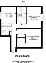 Large floorplan for Manorgate Road, Kingston, KT2
