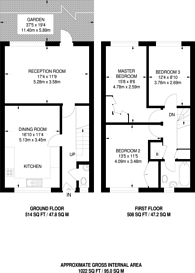 Large floorplan for Tithe Barn Close, Kingston, KT2